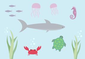 Free Aquatic Life Vektor