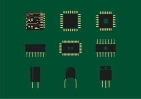 Mikrochip-Vektor