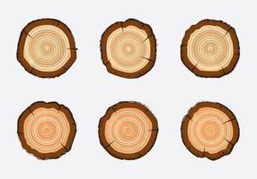 Free Tree Rings Vektor-Illustration vektor