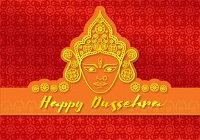 Grußkarte Glückliche Durga vektor