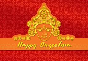 Kort Glad Durga vektor