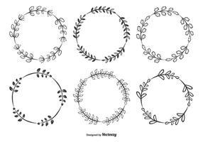 Dekorativa ramar Set vektor