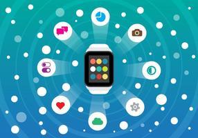 Kostenlose Smart Watch und Smartphone Vector