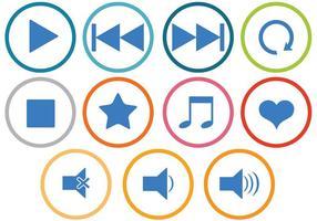 Freie Musik Icons Vektoren