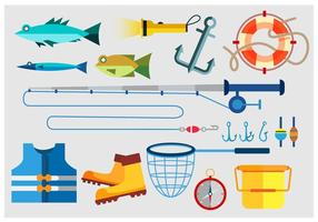Fiskeverktyg vektor