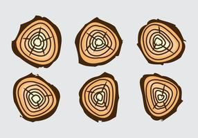 Free Tree Rings Vector Illustration # 17