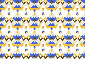 Blå och gul abstrakt mönstervektor vektor