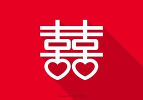 Gratis Double Happiness Symbol Vector
