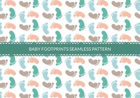 Free Baby Footprints Nahtlose Vektor Muster