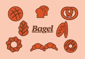 Bagel och Bread Vectors