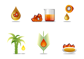 Frei Palmöl Vektor