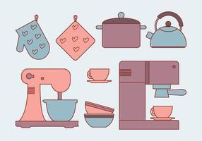 Vektor Küchenelemente