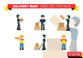 Leverans Man Gratis Vector Pack