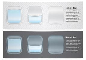 Flugzeug Windows Banner vektor
