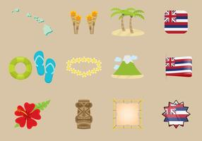 Hawaiianische Ikonen vektor