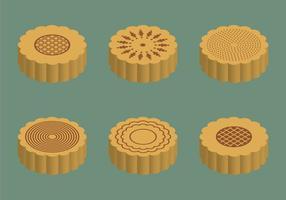 Gratis Mooncake Vector Illustration
