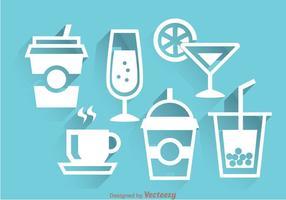 Trinkt weiße Icons