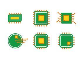 Enkel Microchip Vector Set