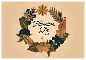 Vektor hawaiianischen Lei