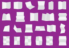 Gefaltete und geschlagene Papierblätter vektor