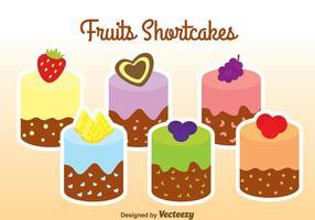 Frukter Shortcakes vektor