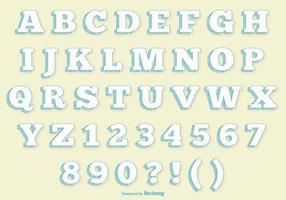 Retro Alphabet gesetzt vektor