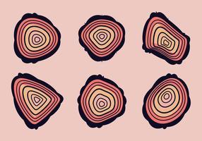 Free Tree Rings Vector Illustration # 12