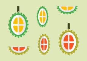 Free Durian Frucht Vektoren