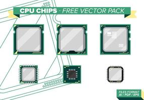 Cpu chips kostenlos vektor pack