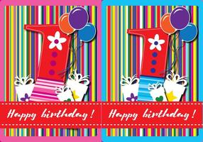 Glad första födelsedagskortet