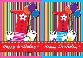 Glückliche erste Geburtstags-Karte