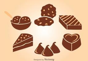 Choklad Snack vektor