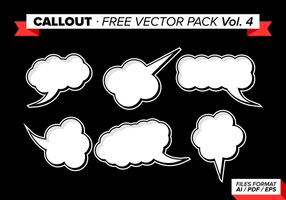 Callout Gratis Vector Pack Vol. 4