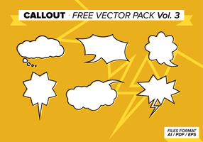 Callout Gratis Vector Pack Vol. 3