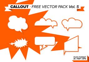 Callout Gratis Vector Pack Vol. 5