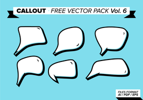 Callout free vector pack vol. 6