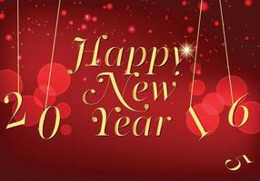 Kungligt nyttår hälsning 2016 vektor