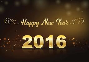 Gott nytt år bokstäver hälsningskort, vektor illustration