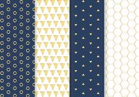 Freier goldener Muster-Vektor
