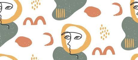 handgezeichnete modische Formen und Augen nahtloses Muster