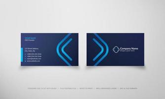blau leuchtende Diamant-Luxus-Firmenkarte
