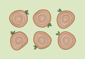 Free Tree Rings Vector Illustration # 20
