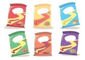 Beutel Von Chips Vektor Set