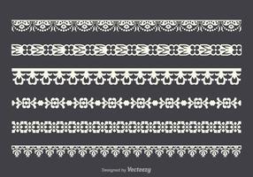 Free vector lace trim set