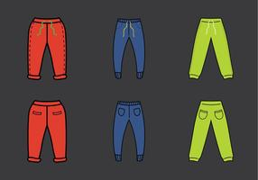 Gratis Sweatpants Vector Illustration