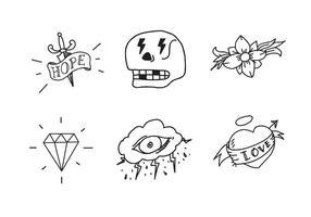 Gammal skola tatuering vektor