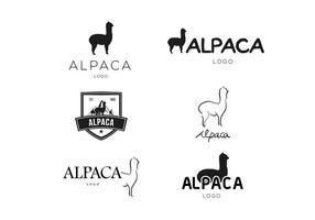 Alpaka-Logo-Vektor vektor