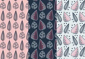Geometrische Blätter Muster Vektor