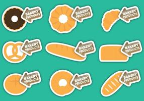 Bäckereiprodukte Etiketten vektor