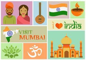 Besök Mumbai vektor